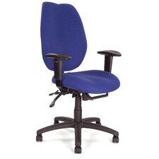 Ergonomischer Bürostuhl mit hohen Rückenlehne und verstellbaren Armlehnen