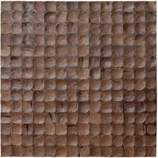"16-1/2"" x 16-1/2"" Coconut Mosaic Tile in Espresso Bliss"