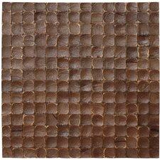 Coconut Textured Mosaic in Espresso Luster