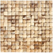 "16-1/2"" x 16-1/2"" Coconut Mosaic Tile in Natural Bliss"