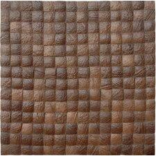 Coconut Textured Mosaic in Espresso Grain