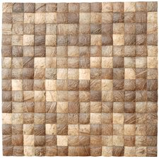 "<strong>Cocomosaic</strong> 16-1/2"" x 16-1/2"" Coconut Mosaic Tile in Natural Grain"