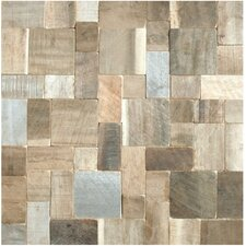 Random Sized Puzzle Style Envy Wood Unpolished Mosaic in Multi-Color