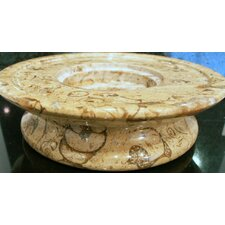 <strong>Marble Products International</strong> 3 Tier Fossil Stone Candle Dish