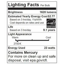 23W 120-Volt (2700K) Fluorescent Light Bulb (Set of 4)