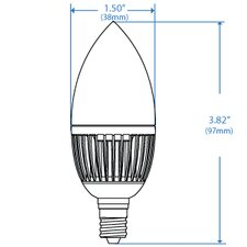 <strong>Energetic Lighting</strong> Candelabra 3000K Bulb in Clear