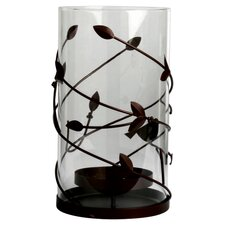 Birds and Berries Metal / Glass Hurricane