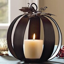 Harvest Market Pumpkin Pillar Holder