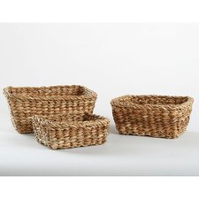 Natural Home 3 Piece Dhama Square Basket Set