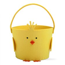 Easter Chick Felt Basket