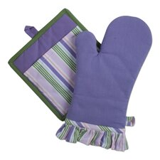 Corelle Shadow Iris Oven Mitt and Potholder