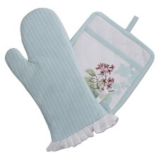 Corelle Twilight Grove Oven Mitt and Potholder