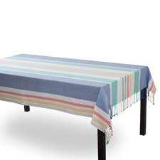 Coastal Aragon Stripe Fringed Tablecloth