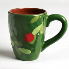 Jardin Christmas Cranberries 16 oz. Mug (Set of 4)