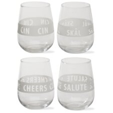 Viva Glassware Cheers Tumbler (Set of 4)