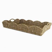 Baskets Scalloped Seagrass Tray