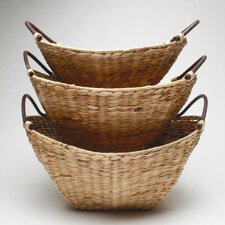 <strong>TAG</strong> Baskets Hyacinth Basket (Set of 3)