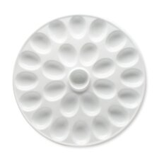 <strong>TAG</strong> Whiteware Round Deviled Egg Platter