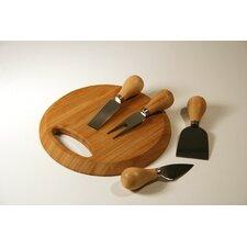 Entertaining Small Handbag Bamboo Cutting Board with Cheese Utensils