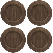 "Basic Textiles 13"" Water Hyacinth Charger (Set of 4)"