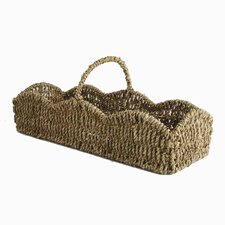 Baskets Scalloped Seagrass Basket