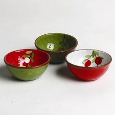 Jardin Christmas Cranberries Bowl (Set of 3)