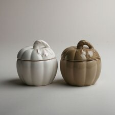 Harvest Market Lidded Pumpkin Bowl (Set of 2)