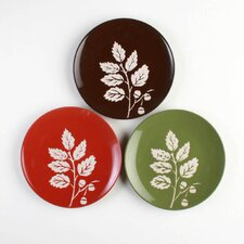 "Foxy Fall 8"" Leaf Appetizer Plate (Set of 6)"