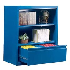 "42"" Bookcase with File Drawer"