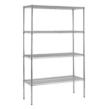 Heavy Duty Four Shelf Wire Shelving Unit
