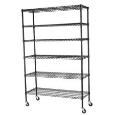 Mobile 6 Shelf Wire Shelving