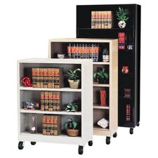 "58"" H Four Shelf Mobile Bookcase"