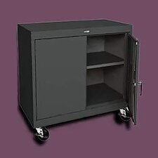 "Transport Wide Single Shelf Work Height Storage - 36"" x 36"" x 18"""