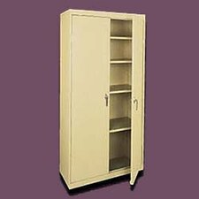 Valueline Tall Mobile Storage Cabinet with Four Fixed Shelves