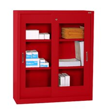Storage Cabinets with Sliding Door Clear View