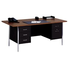 "72"" W Double Pedestal Large Executive Desk with File Drawer"