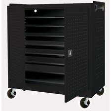 24-Compartment Mobile Laptop Security Cabinet