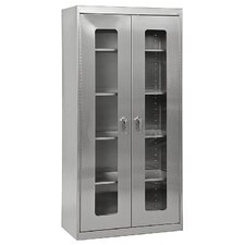 <strong>Sandusky Cabinets</strong> Stainless Steel Clear View Storage Cabinet
