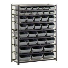 8 Shelf Bin Unit
