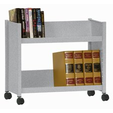 Sloped-Shelf Mobile Book Truck