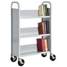 Single Sided Sloped Shelf Mobile Booktruck
