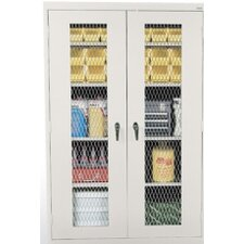 See Thru Series Expanded Metal Front Stationary Cabinet