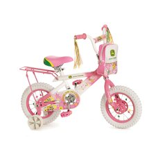 "Girl's 12"" Flower Pedal Bike with Training Wheels"
