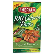 Emerald 100 Calorie Pack All Natural Almonds, 7 Packs/Box