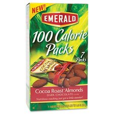 Emerald 100 Calorie Pack Dark Chocolate Cocoa Roast Almonds, 7 Packs/Box