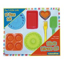 <strong>Sassafras</strong> 10 Piece The Little Cook Silicone Bakeware Set