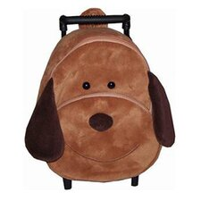 <strong>Sassafras</strong> Kid's Vinyl Dexter Dog Plush Pull a Long Backpack
