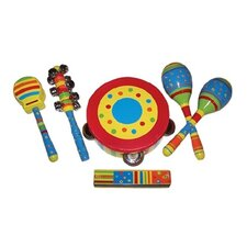 Kid's Striped Six-Piece Gift Set