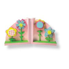 Pink Flowers Bookends