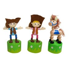Clip-Itty-Doo-Dahs Push Western Toy Display